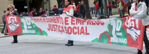 social justice vinyl banner spanish