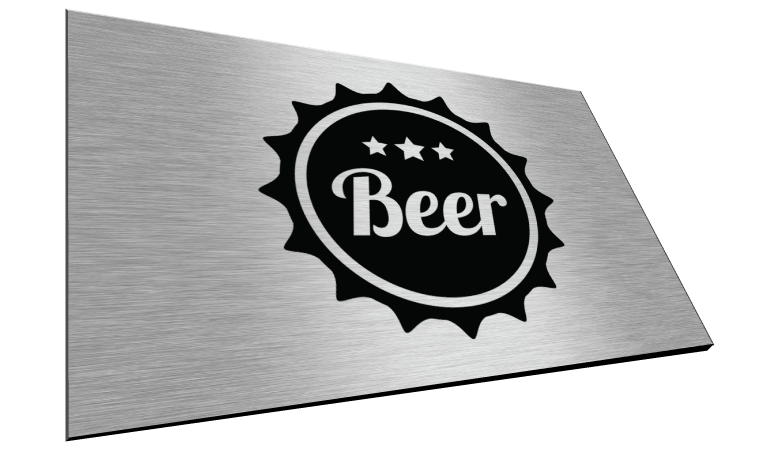 Brushed Aluminum Signs